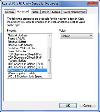 Enabling Wake-On-LAN on a Toshiba Satellite A505 | words