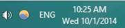 Day of Week on Taskbar Clock