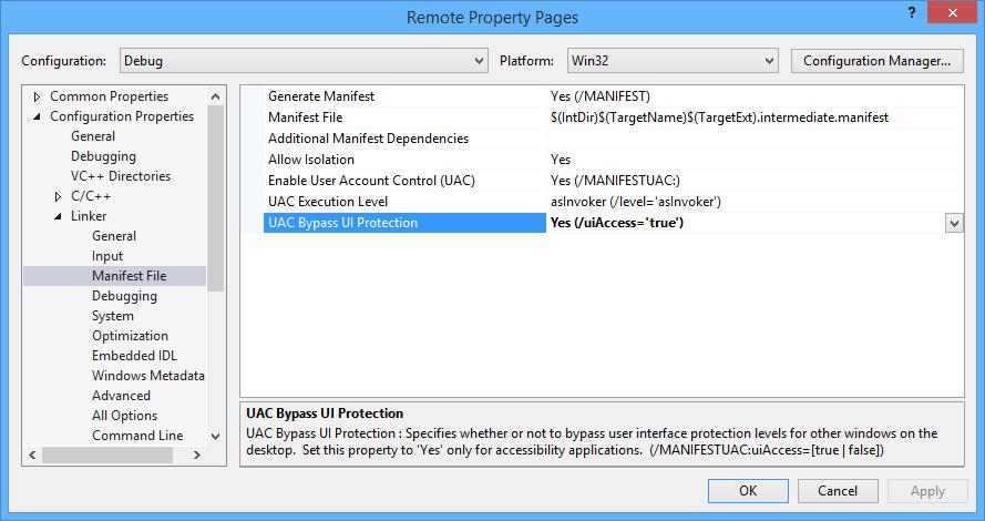 VisualStudio_PropertyPages_Linker_ManifestFile_uiAccess
